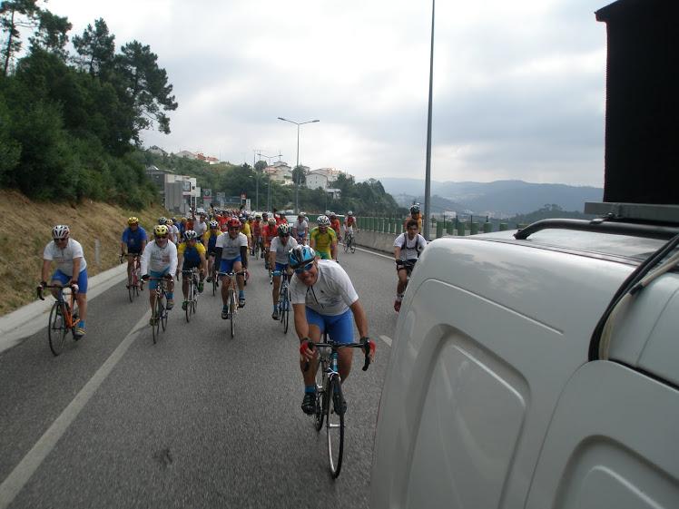 Foto da volta do 7º Convivio de Cicloturismo do Vilanovense em 06 de Junho de 2010