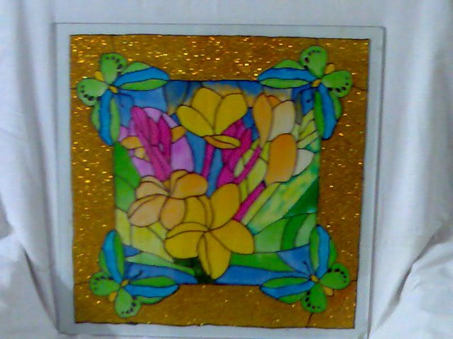 Clasansata simple designs for glass painting for Easy glass painting designs