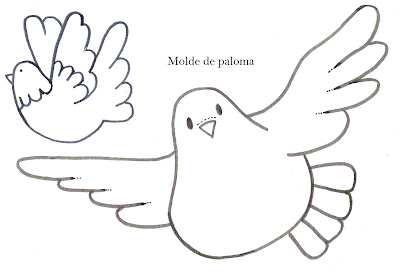 Modelo de palomas dibujos de palomas recrear for Decoracion 9 de julio primaria