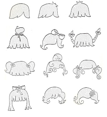 diferentes diseños de dibujos de caras y ojitos infantil