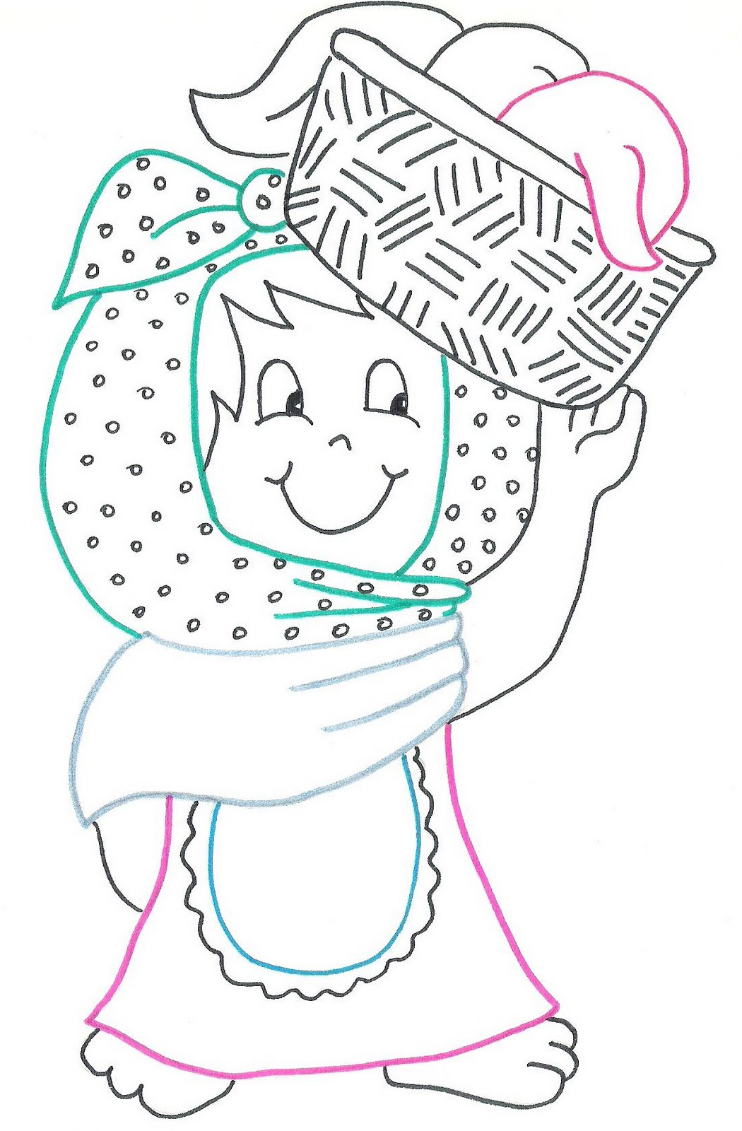 La Ropa Coloring Pages
