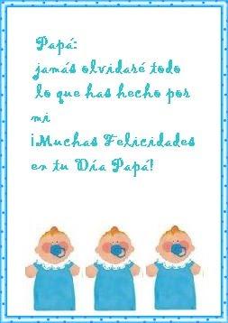 ... imprimir, con una frase para dejarle un saludo por el Día del Padre