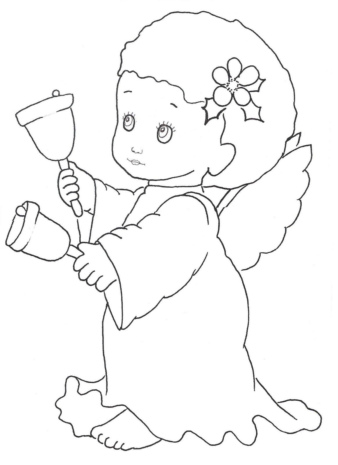 Fantástico Páginas Para Colorear Imprimibles De ángeles Composición ...