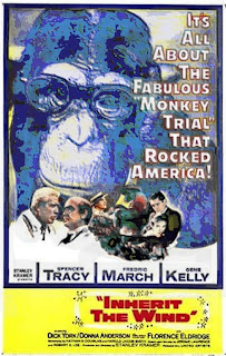 Poster for Inherit the Wind -- America has not progressed very far since the Scopes Monkey Trial.