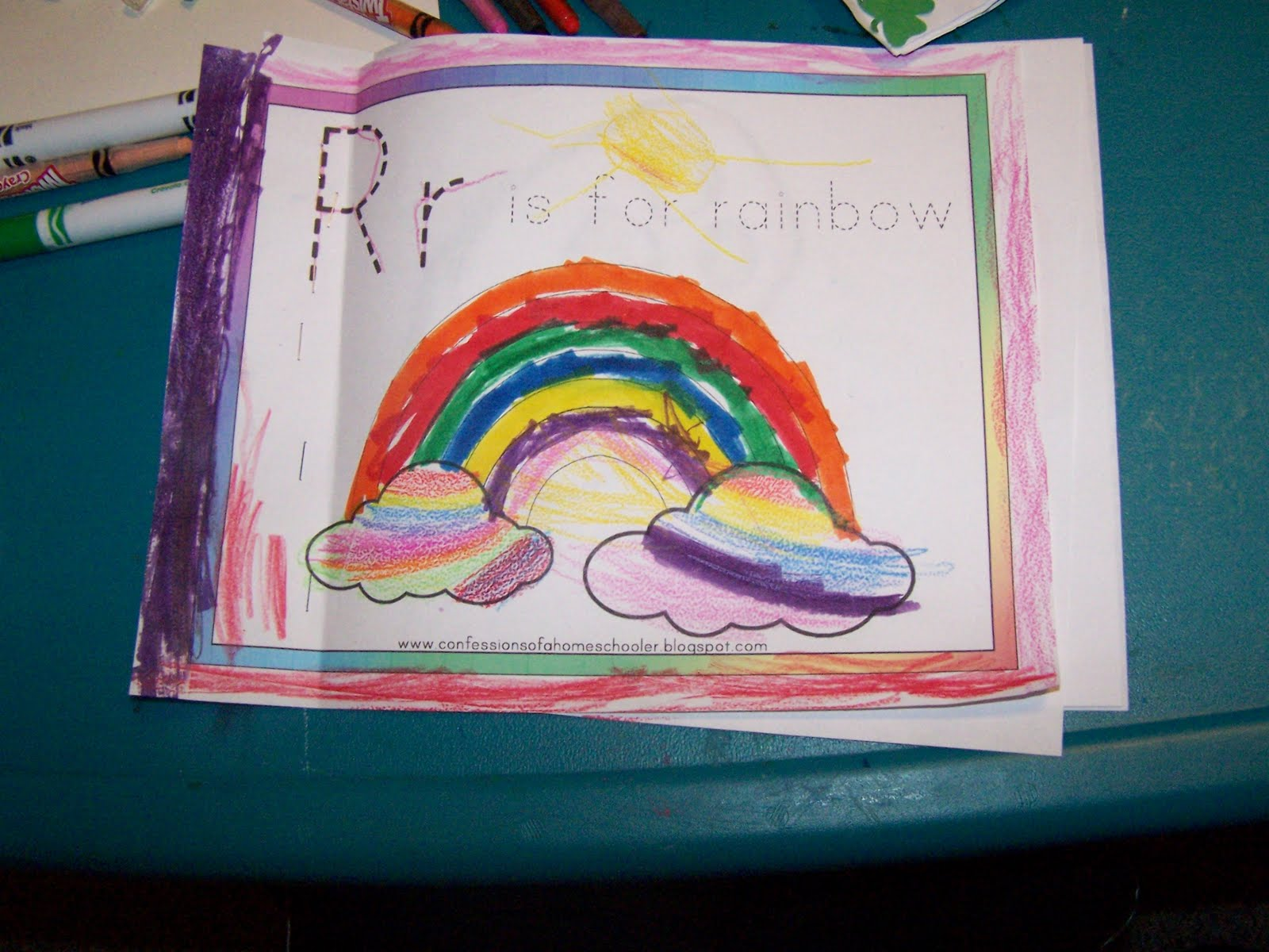 How To Make A Rainbow Book Cover ~ Montgomery academy preschool what we were up to in march
