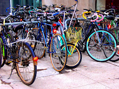 Bicycles near the Art Gallery