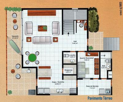 planta casa para construir