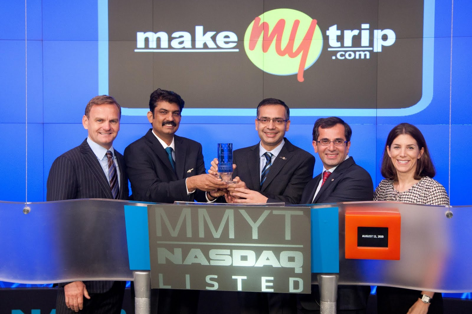 Indian News Service -Blog: MAKE MY TRIP LTD.LISTED ON NASDAQ