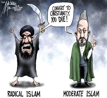 LOS ISLÁMICOS EXTREMISTAS TE DAN EL VENENO. LOS MODERADOS NADA MÁS TE DAN EL VASO, PARA QUE TE LO BEBAS  Moderate+islam