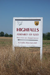 Sign on AL hwy 52 pointing to Highfalls A/G.