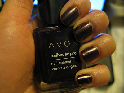 Worn this week: Avon Nailwear Pro Nail Enamel: Night Violet