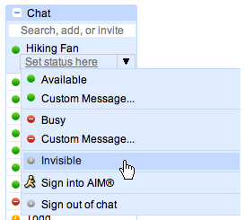 gmail invite to chat
