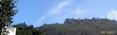 The ruins on Mount Barbarossa and the edge of the cliff over Capri