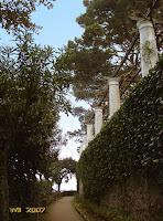The colonnade of Villa San Michele