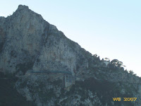 The steep and narrow road to Anacapri