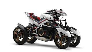 Yamaha's 4-wheel hybrid motorcycle