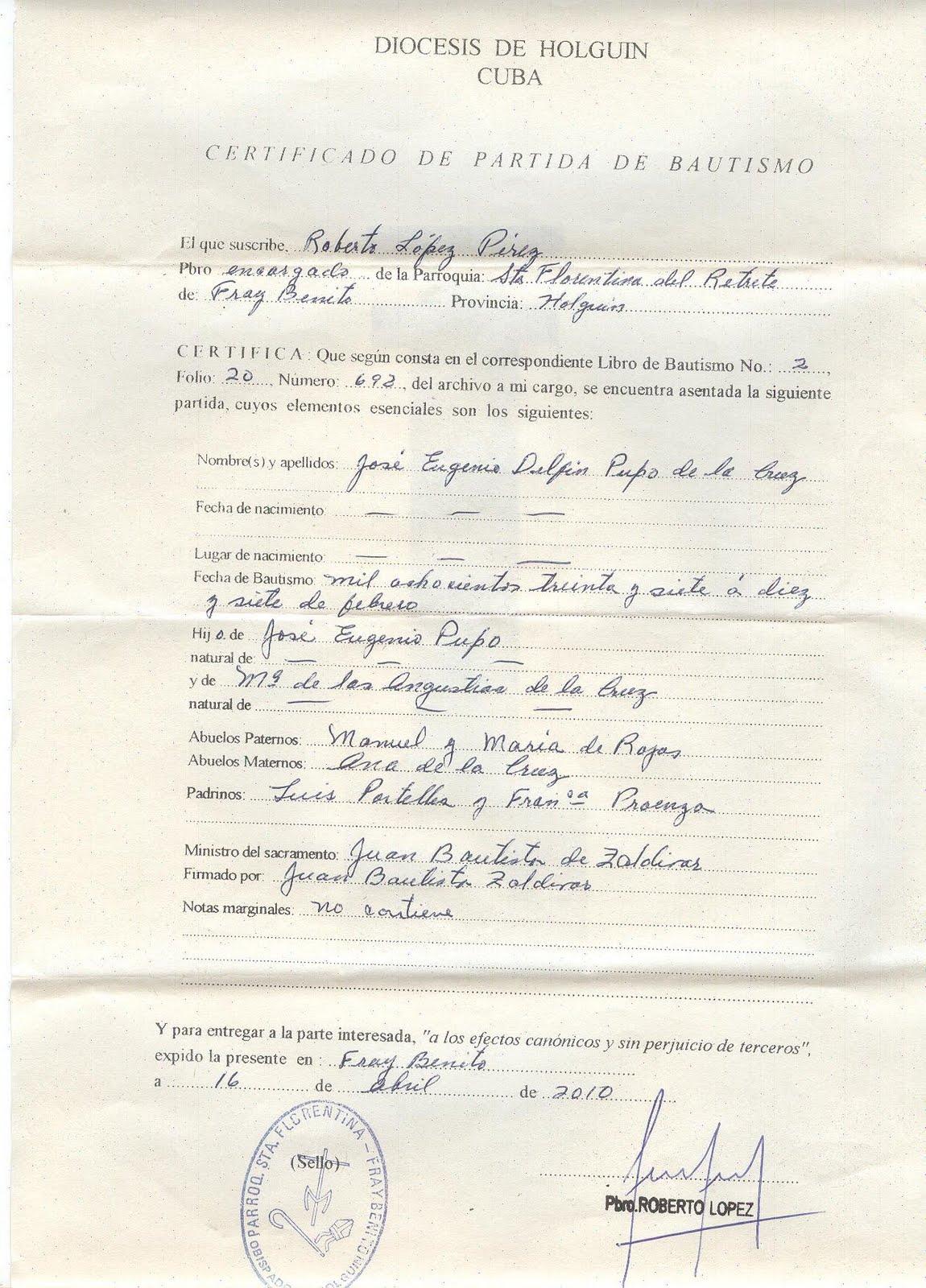 Genealogía Holguín Cuba: 04/09