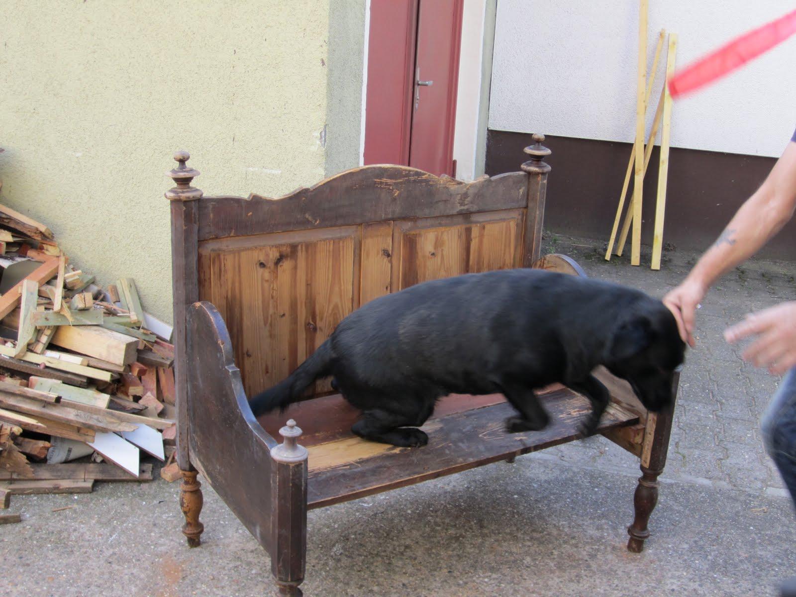 lichtwichtel ein altes bett vom sperrm ll. Black Bedroom Furniture Sets. Home Design Ideas