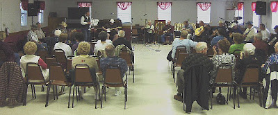 Photo of music jam at 35RV Clubhouse.