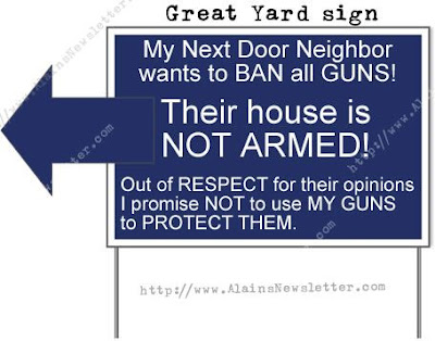 Photo of gun-control-related yard sign.