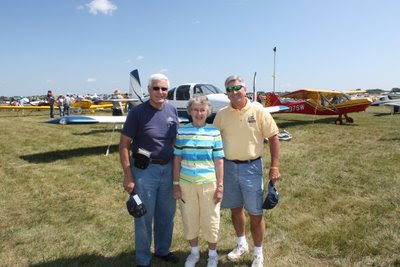 Photo of Keith, Pat, and Tom at Oshkosh