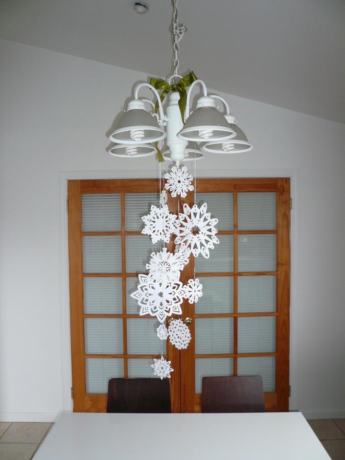 Kcreates diy no 03 paper snowflake chandelier 03 paper snowflake chandelier mozeypictures Choice Image