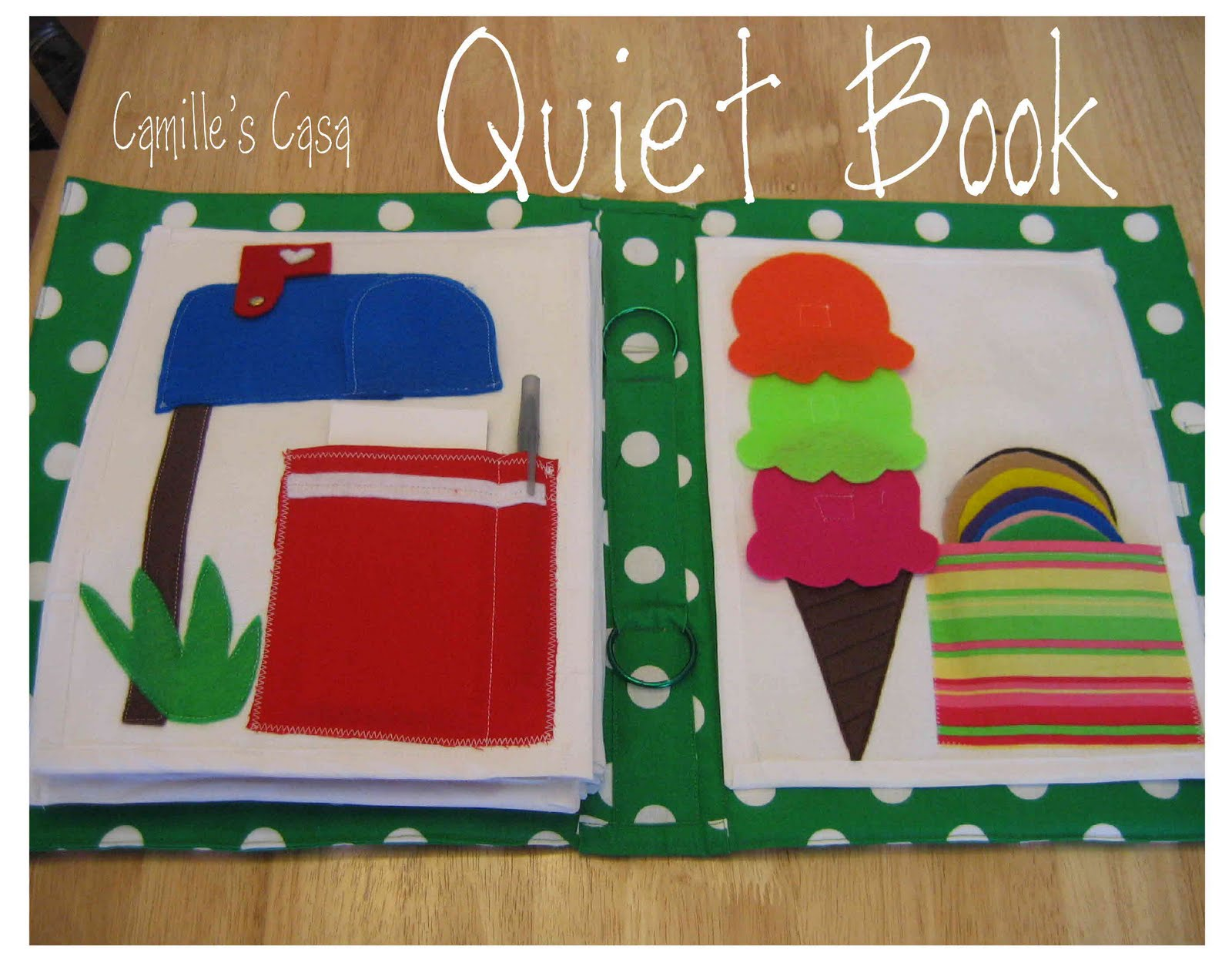 Quiet Book Cover Template ~ Camille s casa quiet book revealed