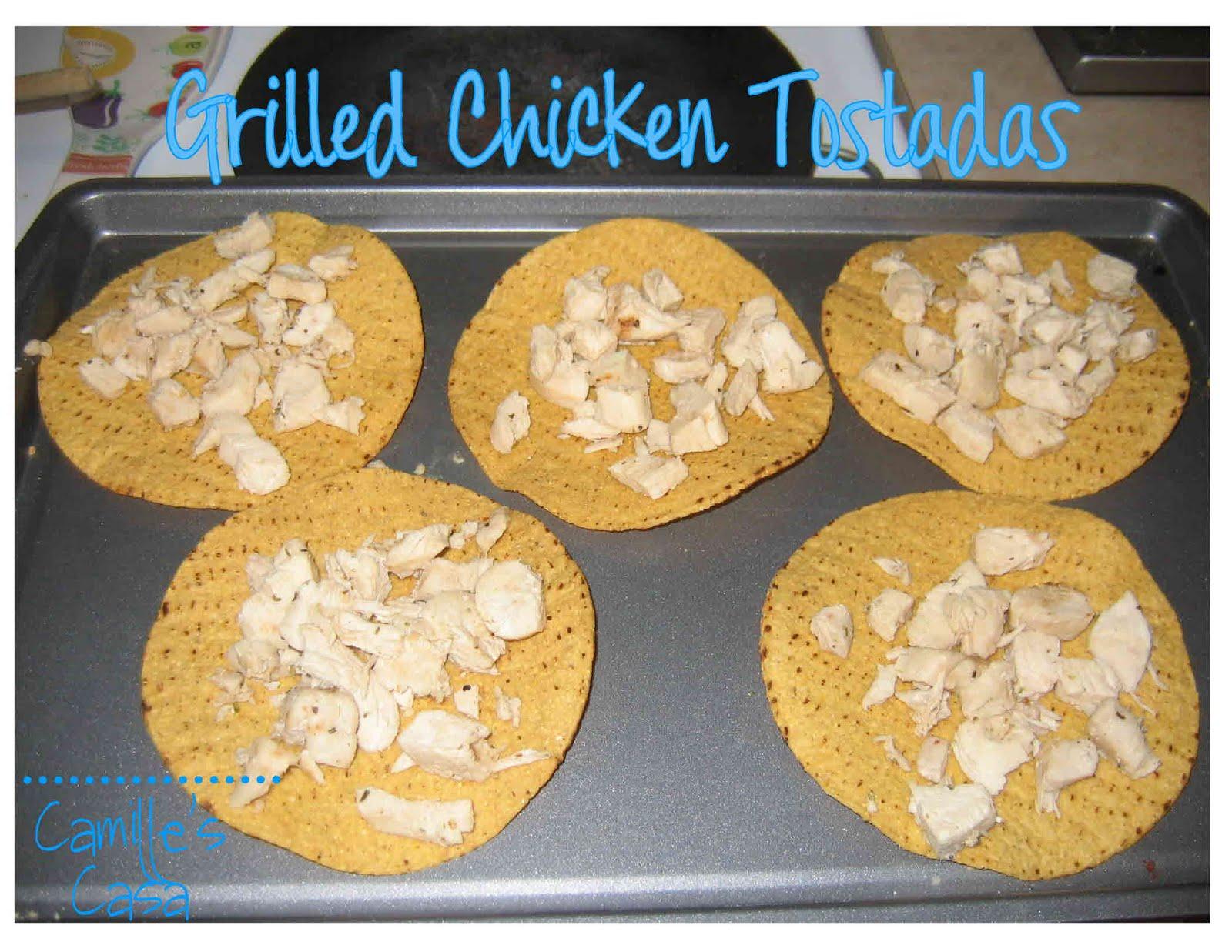 Camille's Casa: Grilled Chicken Tostadas