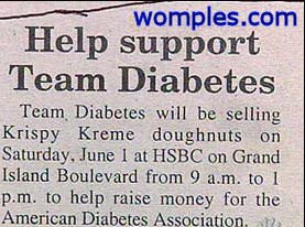 really stupid diabtetes fundraiser funny eat more donuts