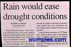 really stupid news headline about drought and rain