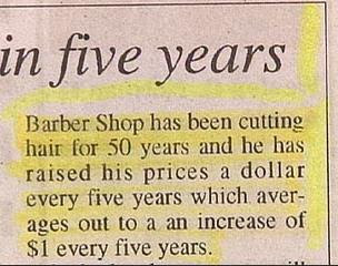 funny pointless information hairdresser story