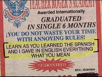 funny language schools bad english