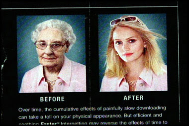 funniest before and after photo of the effects of anti ageing cream old lady and young woman picture