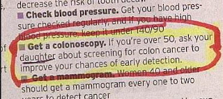 funny news mistakes ask your daughter about having a colonoscopy not doctore mispelling photo