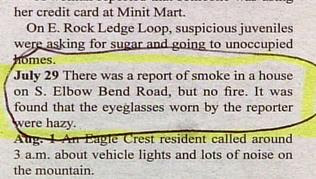 funny real life news stupid reporter with dirty glasses reports a non existent fire