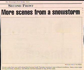 really funny newspaper picture of a snowstorm no need for a real photo