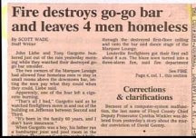 funny news headlines go go bar destroyed by fire leaves four men homeless