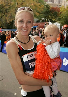 NYC marathon winner, Paula Radcliffe, and her baby Isla