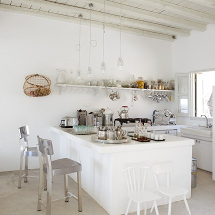 Bianco latte in cucina shabby chic interiors - Cuisine toute blanche ...