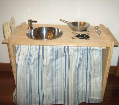 Cucina giocattolo fai da te shabby chic interiors - Cucine fai da te in legno ...
