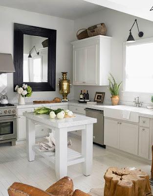 Una cucina bianca   shabby chic interiors
