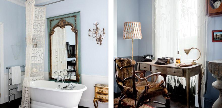 Dimore di carattere shabby chic interiors - Arredare con mobili antichi ...