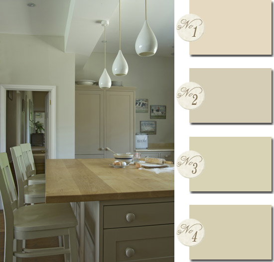 Timeless Kitchen With Old White Farrow And Ball On The: Shabby Chic Interiors