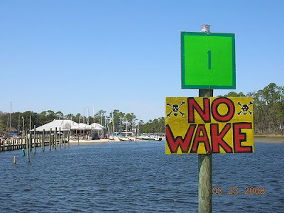 Pirates Cove · No Wake