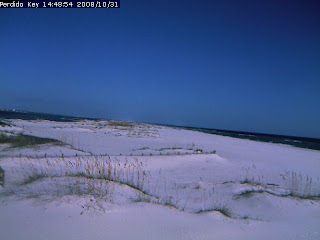 Clear Halloween afternoon sky on the Gulf Coast