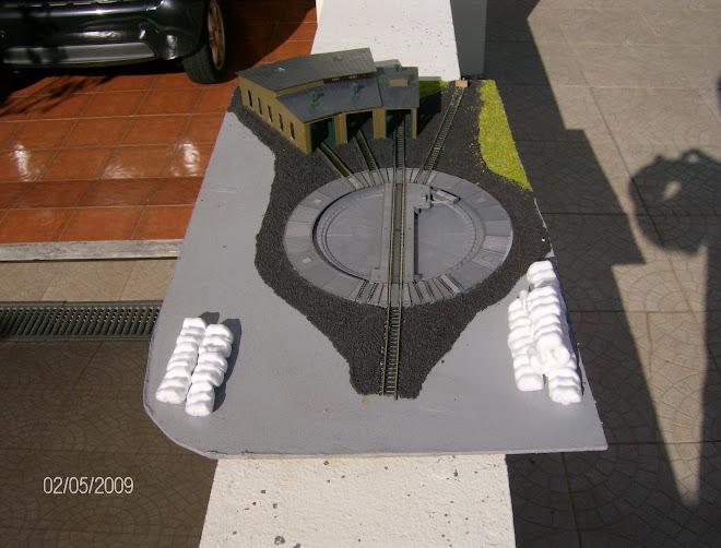 Diorama com cocheira - Em fase de construção