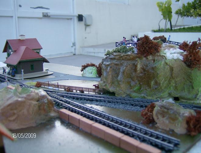"""Diorama """" pequena estação """""""