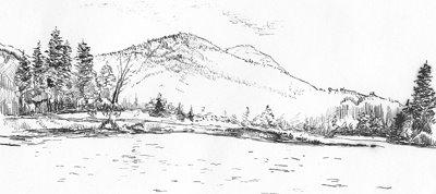 Adirondack Pond Sketch