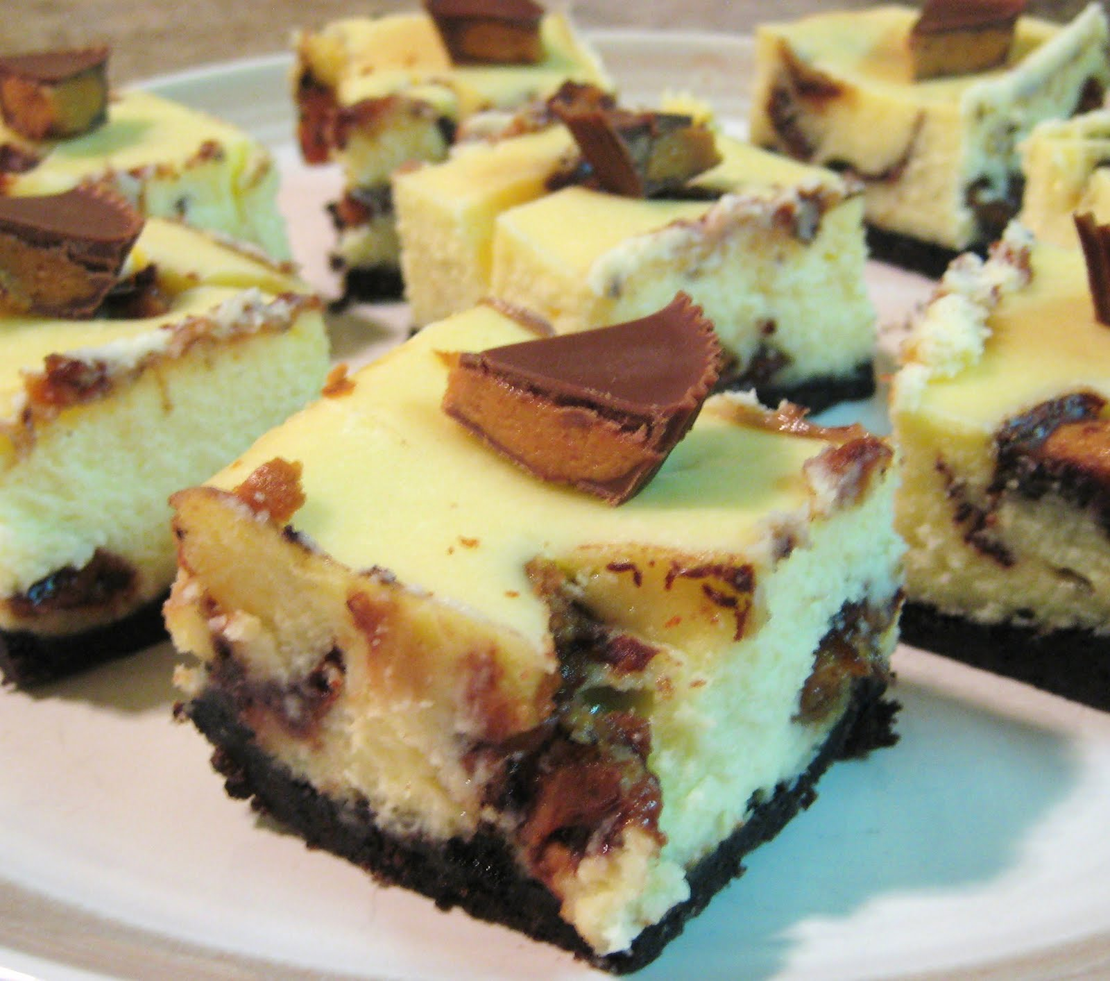 Reese's Peanut Butter & Chocolate Cheesecake Bars Recipes ...