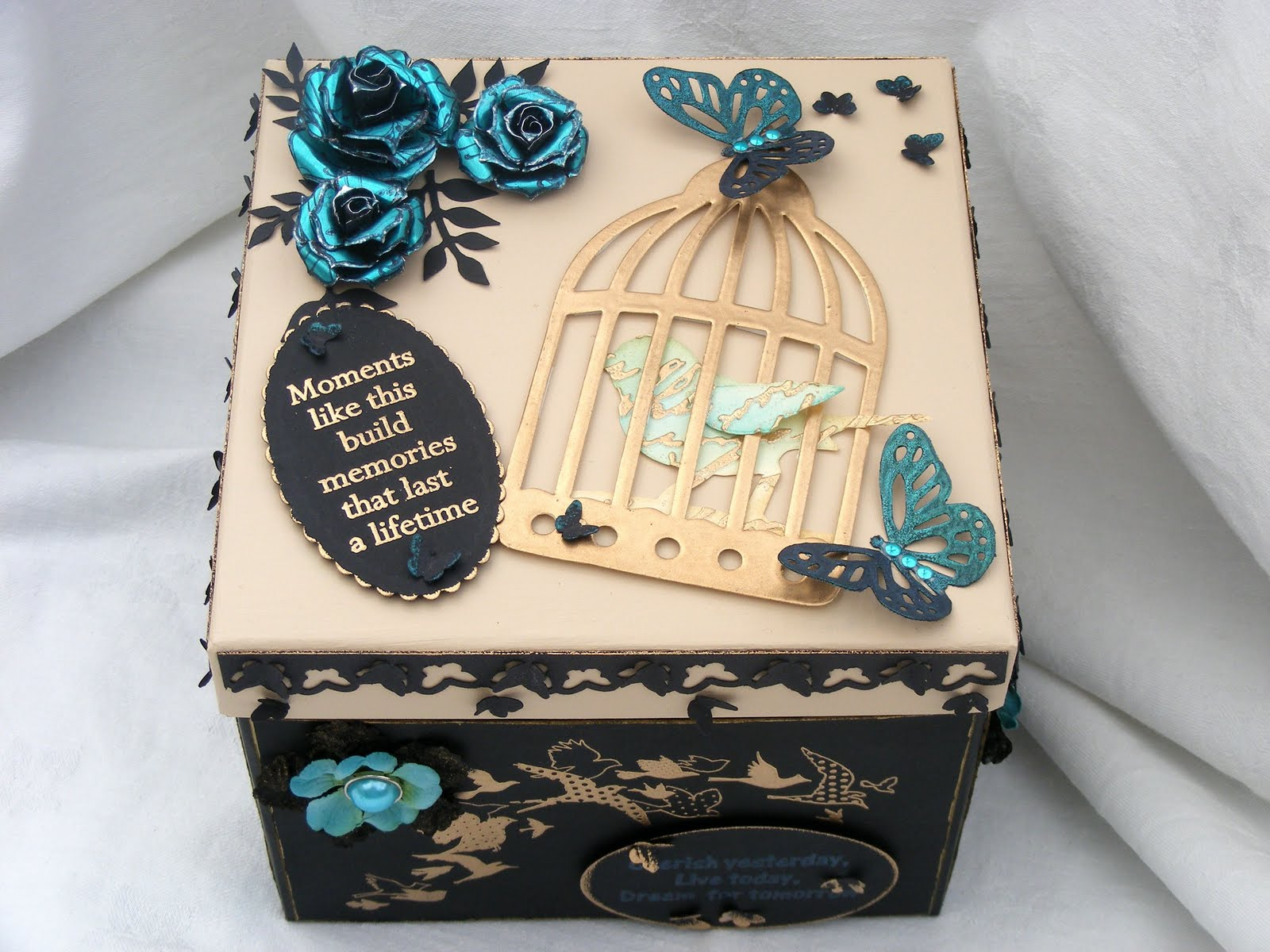 Crafty love n hugs a birthday gift and my 1st challenge for Decoration on a present